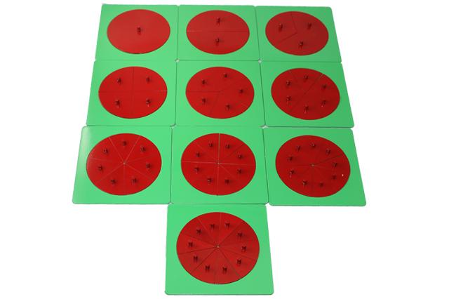 モンテッソーリ 分割円形セット ♪メタルのみ♪ Montessori Metal Fraction Circles
