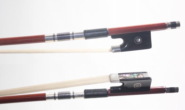 ブラックホーン(黒角)フロッグ、 フェルナンブコ棹 (ペルナンブコ) ビオラ弓