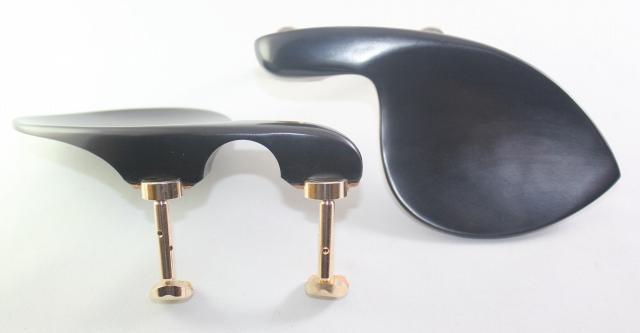 黒檀あご当て ヴィオラ用 ガルネリ型 ヒル型ゴールド金具