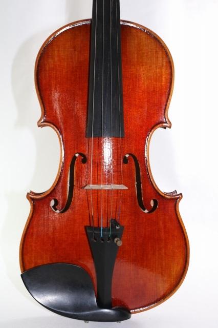 フレンチ・モデル J.B. Collin-Mezin 赤バイオリン ♪一枚裏板、Antiquated♪ 4/4