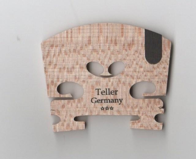 加工前 お見舞い バイオリン駒 Teller 分数1 テラー 2サイズ 人気激安 ドイツ製 E弦溝が黒檀