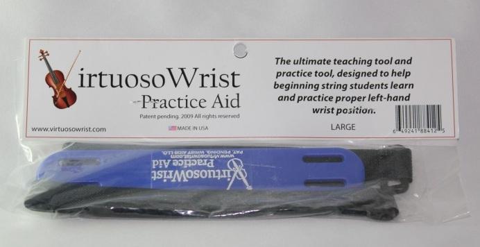 ビブラートの習得にも Small 青 左手首を正しいフォームに矯正する練習器具 Virtuoso Wrist 4-1 人気の定番 Practice Aid 1 半額 16サイズ