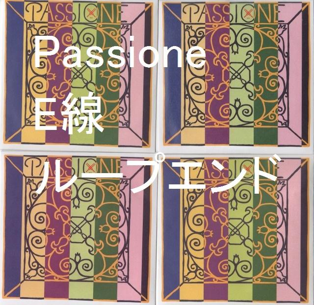 パショーネ(パシオーネ) E線ループエンド 4弦セット Passione ガット弦