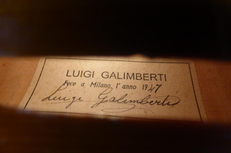 Luigi Galimberti 1947 ラベルドバイオリン