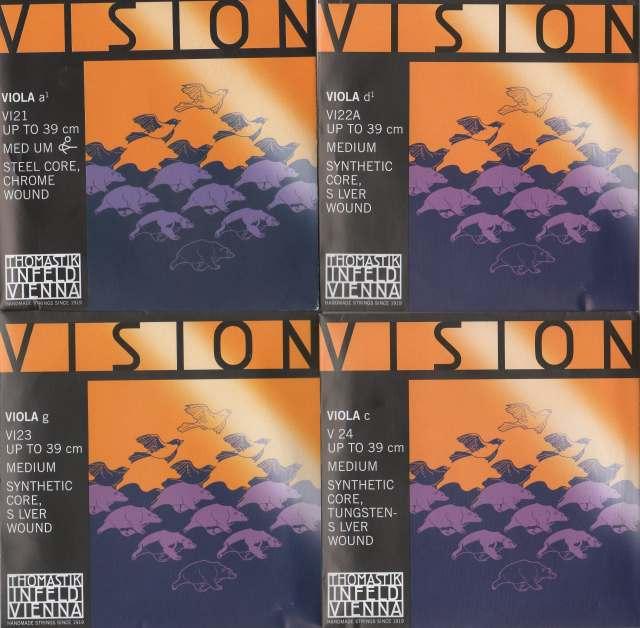 ビオラ弦 Vision  4弦セット(A D G C)