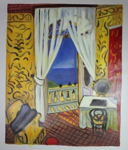 油彩 『 Interior with a Violincase 』 アンリ・マティス Henri Matisse