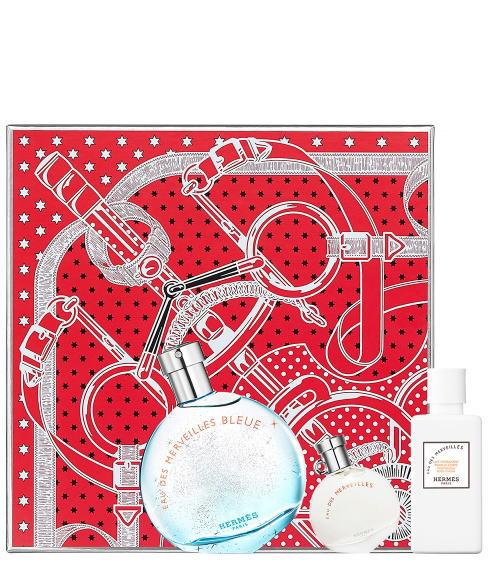 エルメス オーデメルヴェイユ ブルー ホリデー コフレ セット HERMES EAU DES MERVEILLES BlEUE HOLIDAY COFFRET SET(EDT50ml+EDT7.5ml+BL40ml)(北海道・沖縄除く)送料無料