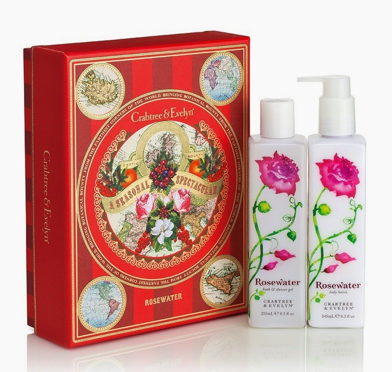 Crabtree & Evelyn Christmas gift set (rose water shower gel & body lotion set) LONDON CRABTREE EVELYN Crabtree & Evelyn Christmas Gift Set (Rose Water ...
