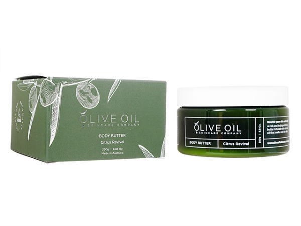 OliveOil ボディバター・シトラスリバイバル250g [ヤマト便] ×3本 (OliveOil) Body Butter (Citrus Revival) Made in Australia