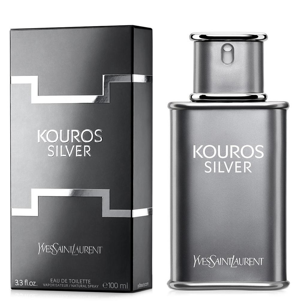 Edt Spray Eau Ysl De Yves Laurent Ml Kouros Silver Saint 100 Toilette XZukPi