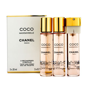 4924f4e218 Chanel Coco Mademoiselle twist & spray EDT Eau de toilette SP  20ml×3 CHANEL