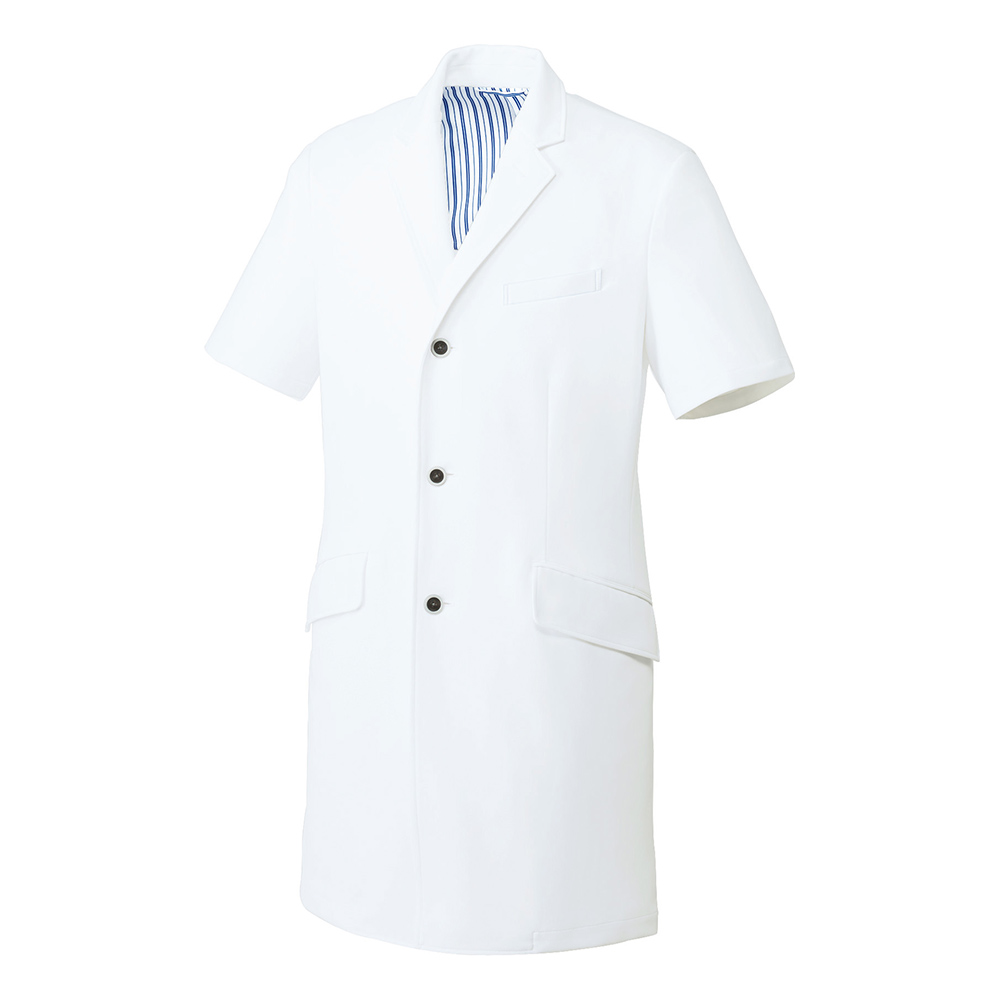 unite ドクターコート 半袖 UN-0087 男性用 メンズ用 医療用ユニフォーム