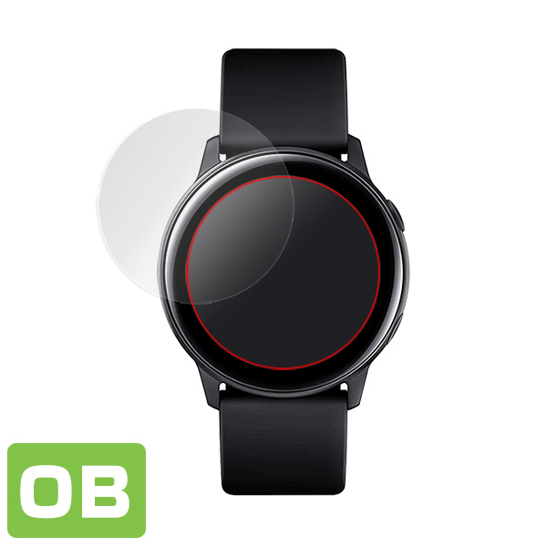 Galaxy Watch Active SM-R500 用 保護フィルム OverLay Brilliant for GalaxyWatch Active SMR500  液晶 保護 指紋がつきにくい 防指紋 高光沢 ギャラクシーウォッチ アクティブ