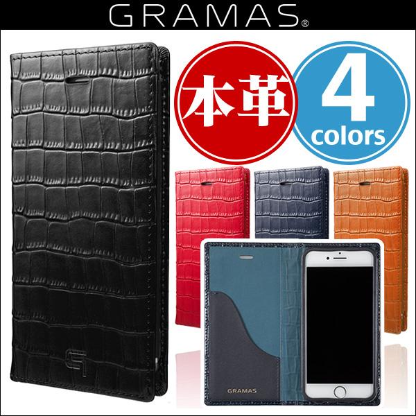 柔らかい iPhone 8 / iPhone 7 用 GRAMAS Croco Patterned Full Leather Case GLC6136 for iPhone 8 / 7iPhone iPhone7 iPhoneケース レザー ICカード 皮革, ジェイユーショップ 80bca4fa