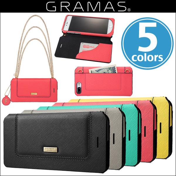 """iPhone 8 Plus / iPhone 7 Plus 用 GRAMAS FEMME """"Sac"""" Bag Type Leather Case FLC296P for iPhone 8 Plus / iPhone 7 PlusiPhone8 Plus レザー"""