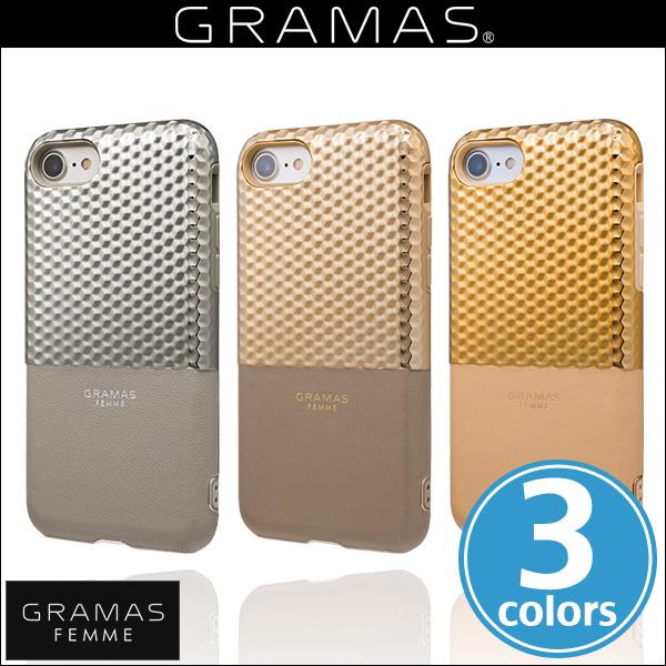 "iPhone 8 / iPhone 7 用 GRAMAS FEMME ""Hex"" Hybrid Case FLC2007 for iPhone 8 / 7iPhone iPhone7 iPhoneケース ICカード バックカバー グラマス 電子マネー"