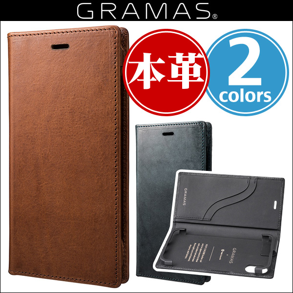"iPhone X 用 GRAMAS ""TOIANO"" Full Leather Case GLC-70317 for iPhone X 【送料無料】iPhone iPhoneX iPhoneケース 本革 グラマス マグネットフラップ ICカード"