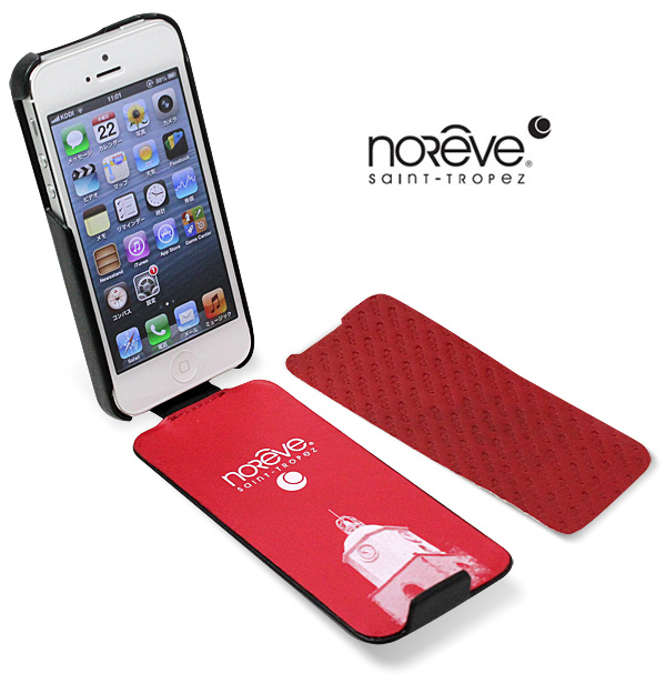 7d82d28725 Noreve Tentation Tropezienne selection レザーケース for iPhone SE / 5s / 5(カーボン)