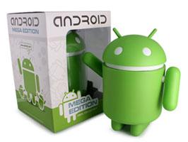 Android Robot フィギュア MEGA Edition Vinyl collectible でっかい ドロイド君 大きい ドロイドくん ビッグな ドロイドくん型 グッズ