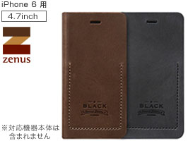iPhone 6s / iPhone 6 用 ケースZenus Black Tesoro Diary for iPhone 6s / iPhone 6 手帳型 手帳タイプ