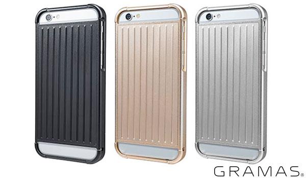 RM03 iPhone6 4.7インチ用 GRAMASグラマス Full Metal Case RM03 for iPhone 6 フルメタルバンパー 坂本ラジヲ GRAMAS(グラマス) アイホン アイフォンケース RM03BK ブラック RM03GL ゴールド RM03SL シルバー 表面硬度9Hの厚さ0.33mmの保護ガラス付属 P15Aug15