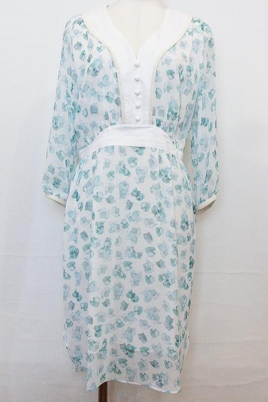 MIKA NINAGAWA くるみドレス 0 1701-W-09 アジサイ(ブルー系)