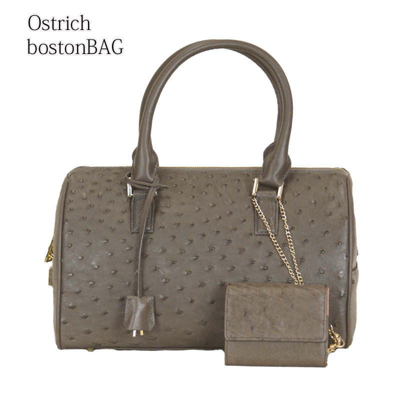 【ostrich】【オーストリッチ】ミニウォレットつき2wayボストンバッグ 肩掛け ショルダー 多機能 レディースバッグ 通勤バッグ 【現品限り】