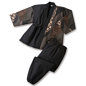 【送料無料】日本製紳士和柄作務衣(33224)【smtb-TD】【saitama】【2018 秋冬モデル】