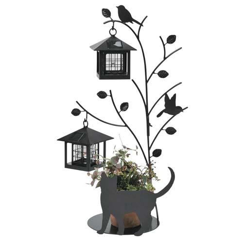 セトクラフト シルエットソーラー(Tree&Cat)2灯 SI-1956-1300【送料無料】【smtb-TD】【saitama】