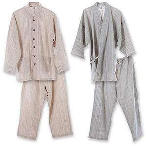 優柔 纏(まとい)いろは織 作務衣&パジャマセット【送料無料】【smtb-TD】【saitama】