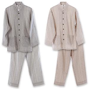 優柔 纏(まとい)いろは織 長袖・十分丈パジャマ【送料無料】【smtb-TD】【saitama】