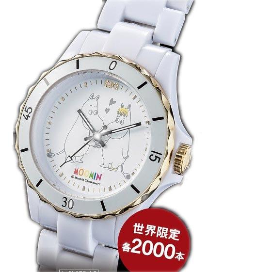 ムーミン生誕70周年腕時計 ダイヤモンド・ホワイトセラミックウォッチ【送料無料】【smtb-TD】【saitama】