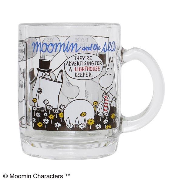ムーミン谷の仲間が集まる楽しい耐熱ガラスのマグカップ MOOMIN ムーミン 贈物 無料 コミックス マグ 耐熱マグ MM-G28-002 マグカップ BROWN 耐熱ガラス