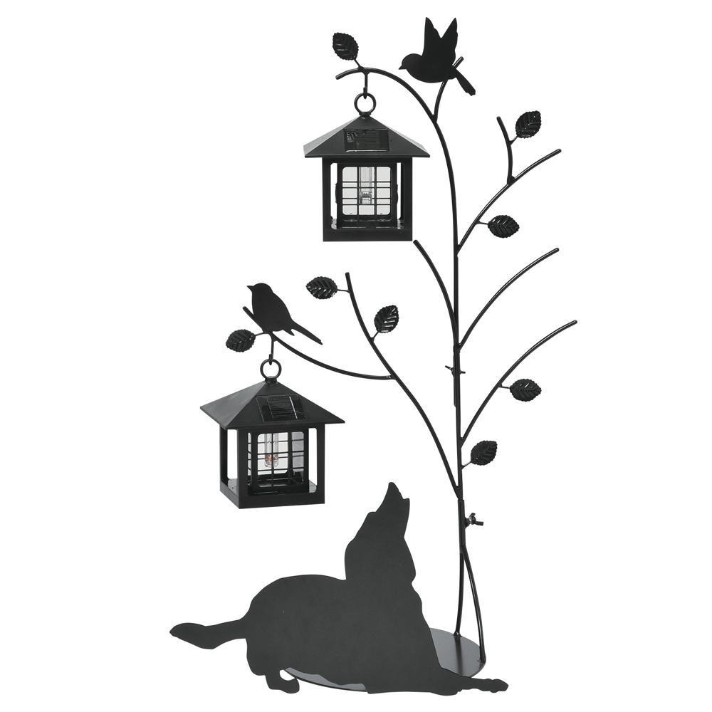 セトクラフト シルエットソーラー(Tree&Dog)2灯 SI-1955-1300【送料無料】【smtb-TD】【saitama】