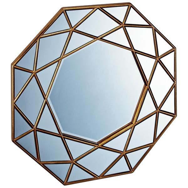 ユーパワー ダイヤモンド アート ミラー アンティークゴールド DM-25001※送料無料対象外※同梱不可