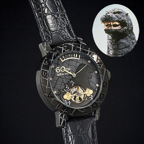 ゴジラ生誕60周年記念 機械式腕時計 手巻き式【送料無料】【smtb-TD】【saitama】:ビタミンバスケット