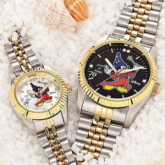 メンズ レディース ミッキー 腕時計 魔法使いミッキー ディズニー ファンタジア70周年記念 世界限定ダイヤモンド時計【送料無料】【smtb-TD】【saitama】