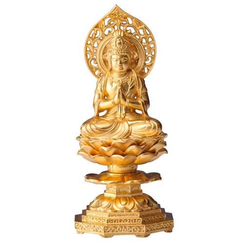 仏像 勢至菩薩 15cm 金箔仕様