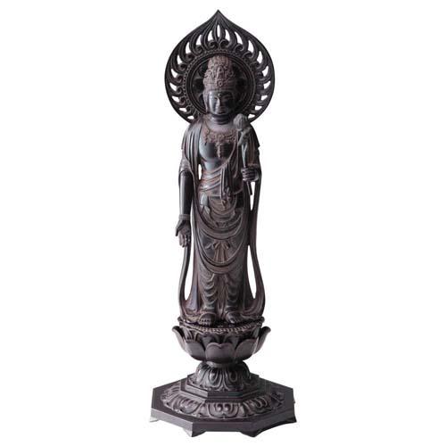 仏像 聖観音菩薩 36cm 古美茶