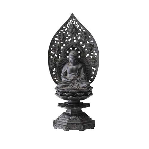仏像 釈迦如来座像 18cm 古美青銅