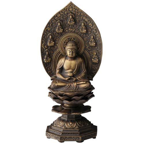 仏像 薬師如来座像 18cm 古美金