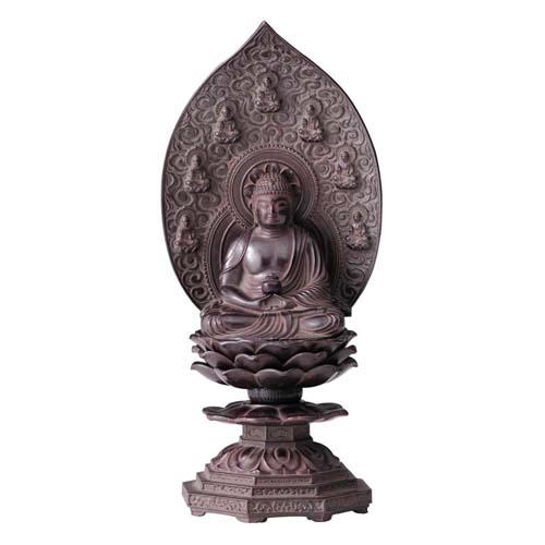 仏像 薬師如来座像 18cm 古美茶
