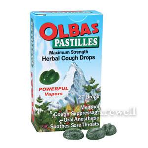 Olbas アウトレット オルバス パスティーユ のど飴 27ドロップ メントールに喉にやさしいハーブをたっぷりブレンド 即納 オルバス社からスイス生まれの天然のど飴登場