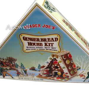 手作りお菓子の家 ジンジャーブレッドハウスキット 750g<BR>おうちで手作りクリスマスお菓子の家♪絵本で見た憧れのお菓子の家をデコレーションして楽しむ組み立ててデコレーションすれば出来上がり!家族でも恋人同士でも♪