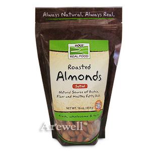 ローストアーモンド 454gアーモンド、オーガニック食品のことならアーウェル カリフォルニア産の大粒を厳選!うす塩味の香ばしいローストタイプ♪ローストアーモンド 454gお1人様4つまで!now foods(ナウフーズ社)