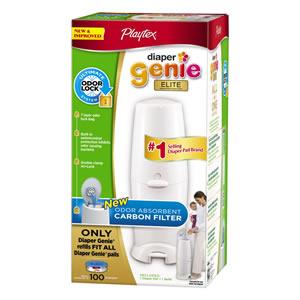 Playtex 臭わないオムツ処理用ゴミ箱ポット アメリカで1番売れてるペダル式オムツ収納容器オムツ交換用カートリッジ100枚付