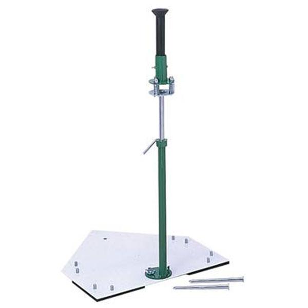 ゼット野球 ZETT メンズ レディース ホームベース支柱取付式バッティングティー 野球用品 打撃練習 BM18