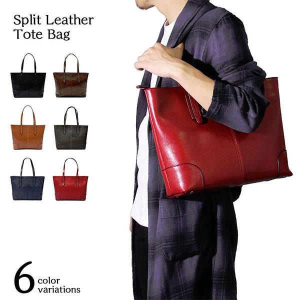 2a3a8d9d9fe1 A M S A. M.S. Men s lady s split leather cow floor leather tote bag bag bag  casual bag business ABG-3001