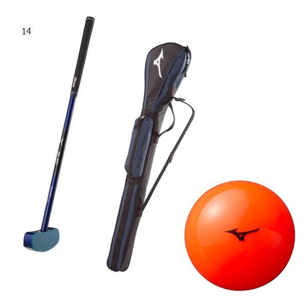 【送料無料】 3点セット ミズノ Mizuno メンズ レディース グラウンド ゴルフ セット 日本グラウンド・ゴルフ協会認定品 グラブ ボール ケース C3JLG851