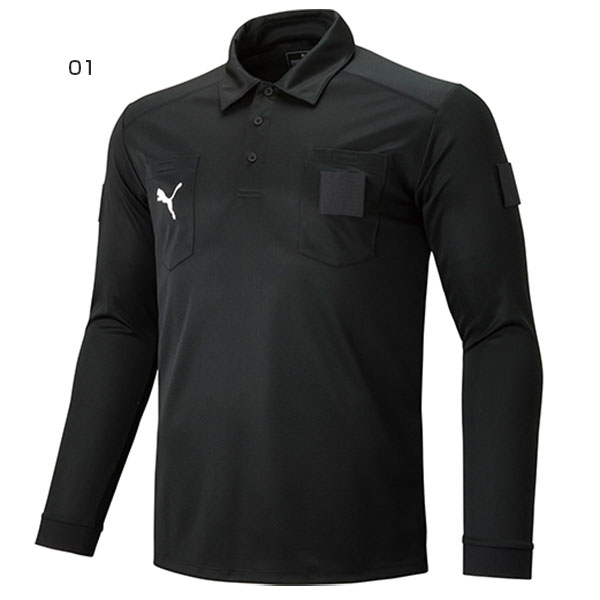 babdfd152 The long sleeves referee shirt with the collar which the chest garnished  with a cat logo. dryCELL keeping the clothes with dry comfortably is  carried by ...